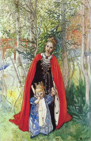 """Spring Princess"" by Carl Larsson"