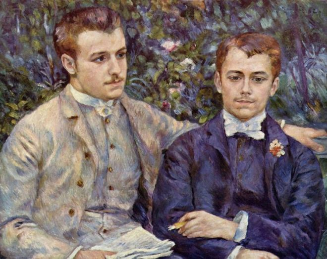 """Portrait of Charles & Georges Durand-Ruel"" by Pierre-Auguste Renoir"