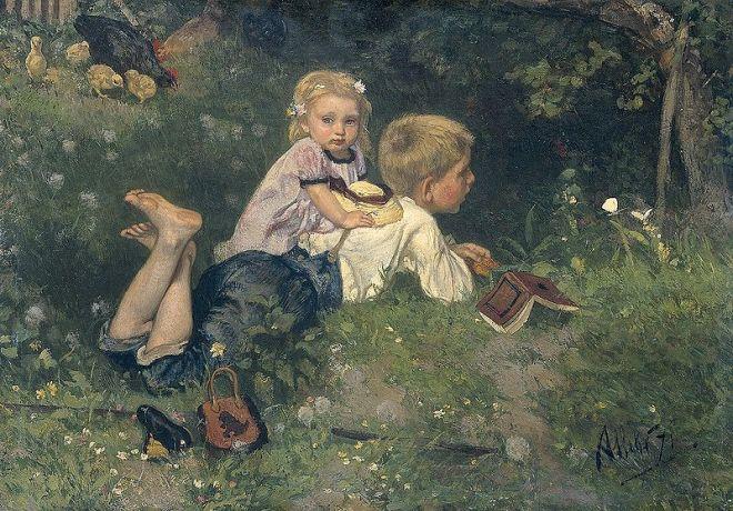 """""""The Butterflies"""" by August Allebé"""