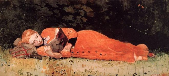 """""""The New Novel"""" by Winslow Homer"""