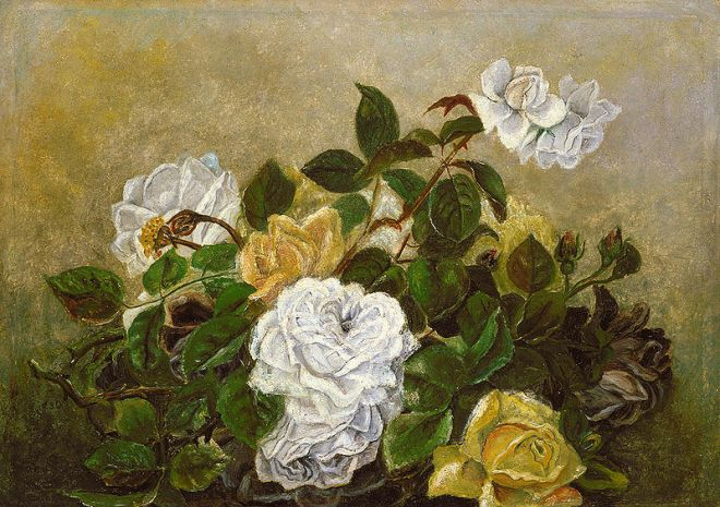 """Roses Fancy Still Life"" by Robert Scott Duncanson"