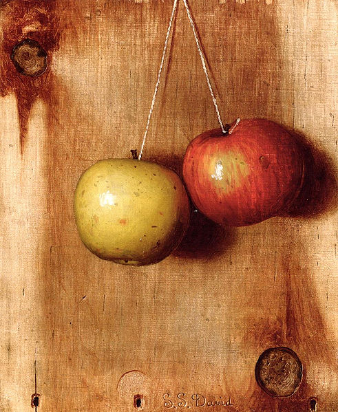 """Hanging Apples"" by De Scott Evans"