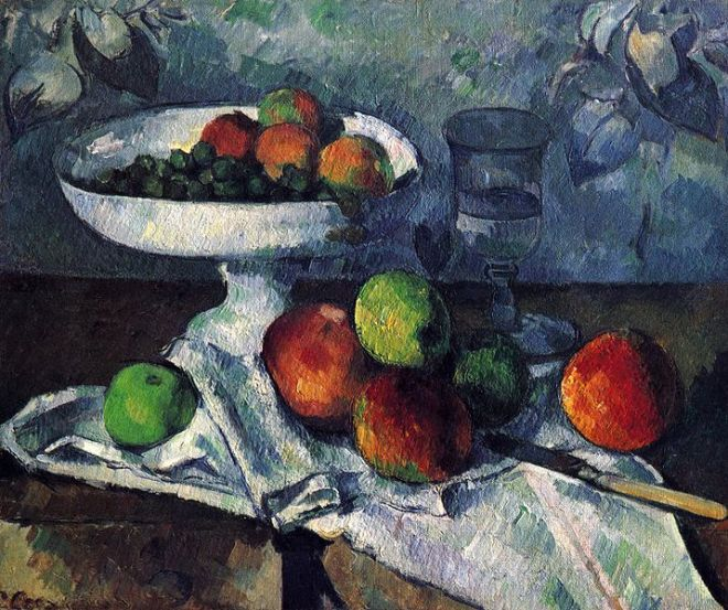 """Still Life with Fruit Bowl"" by Paul Cézanne"