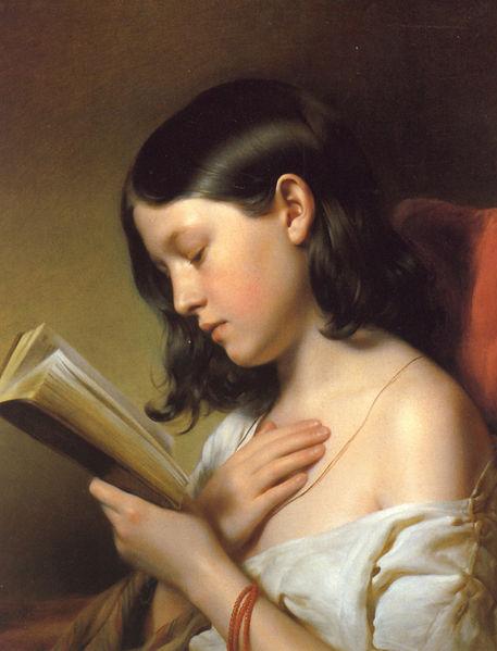 """""""Girl Reading"""" by Franz Eybl"""