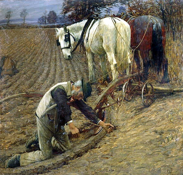 """The Last Furrow"" by Henry Herbert La Thangue"