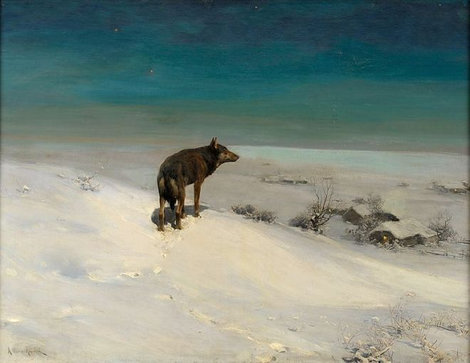 """The Wolf"" by Alfred von Wierusz-Kowalski"