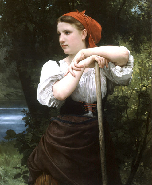 """The Haymaker"" by William-Adolphe Bouguereau"
