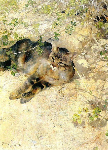 """Sleeping Jeppe"" by Bruno Liljefors"