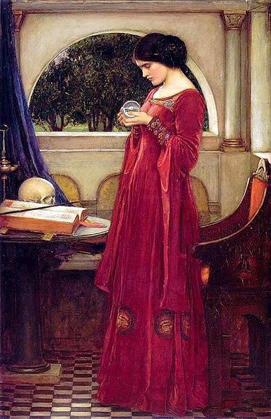 """The Crystal Ball"" by John William Waterhouse"