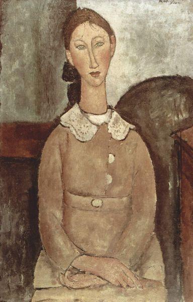"""Girl in Yellow Dress"" by Amedeo Modigliani"