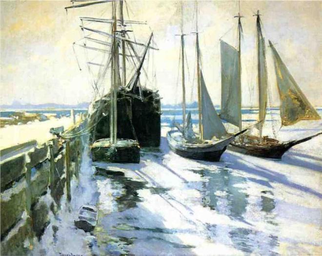 """Connecticut Shore, Winter"" by John Henry Twachtman"