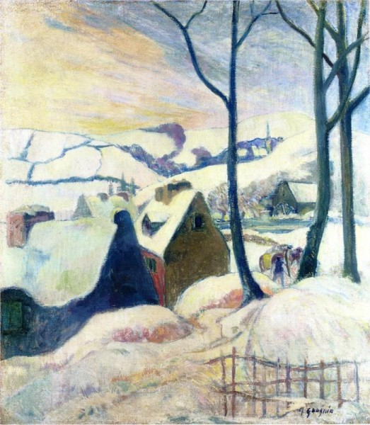 """Village in the Snow"" by Paul Gauguin"