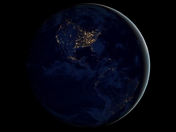 """""""Earth at Night"""" image by NASA"""