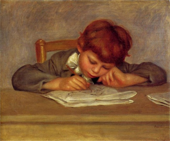 """Jean Drawing"" by Pierre-Auguste Renoir"