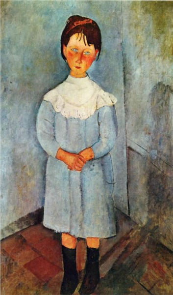 """Little Girl in Blue"" by Amedeo Modigliani"