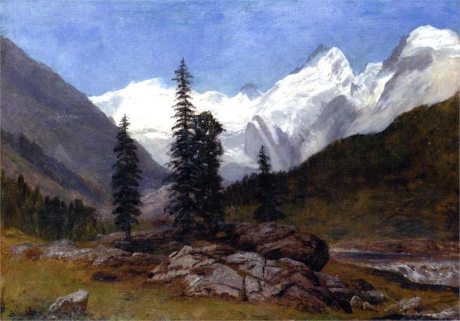 """Rocky Mountain"" by Albert Bierstadt (1830-1902) German-American Painter"