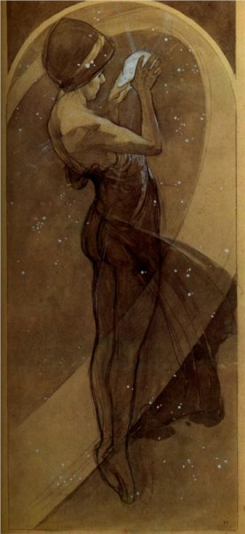 """North Star"" by Alphonse Mucha (1860-1939) Czech Art Nouveau Painter"