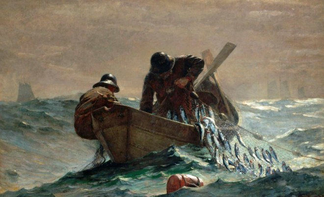"""The Herring Net"" by Winslow Homer (1836-1910) American Landscape Painter"