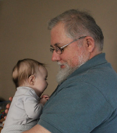 a quiet moment with Grandpa