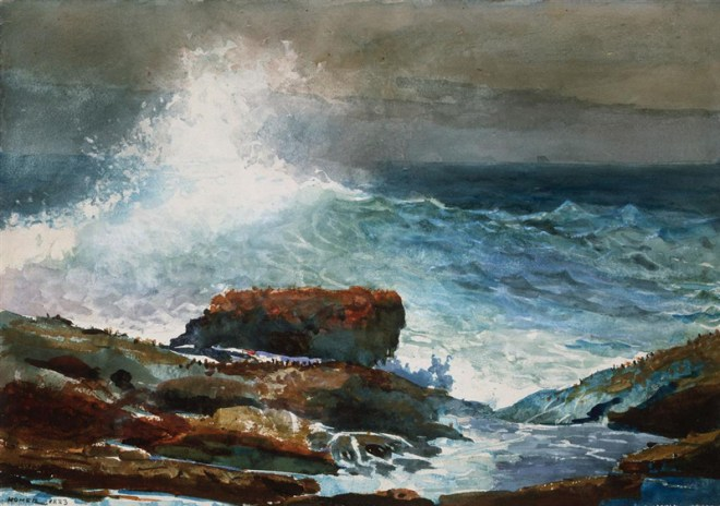 """Incoming Tide, Scarboro Maine"" by Winslow Homer"