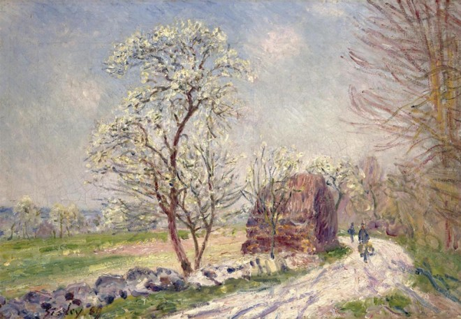 """Along the Woods in Spring"" by Alfred Sisley"