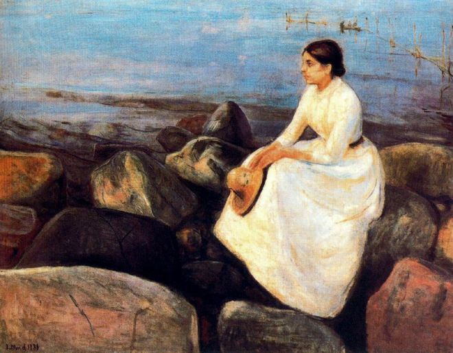 edvardmunch-summer-night-inger-on-the-shore