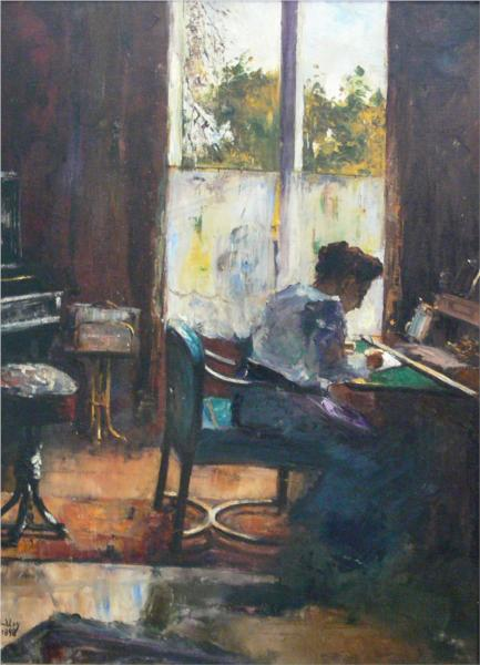 lesserury-woman-at-writing-desk