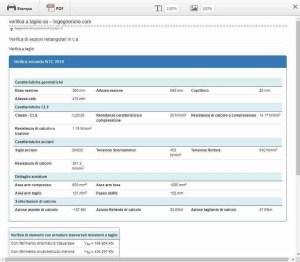 varifica a taglio di sezioni in ca - output pdf - ingegnerone.com