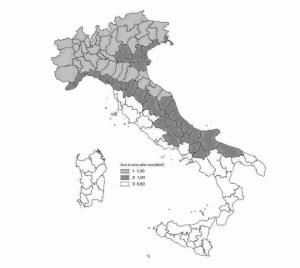 mappa nazionale zone attribuzione del carico neve secondo le NTC2018 - ingegnerone.com