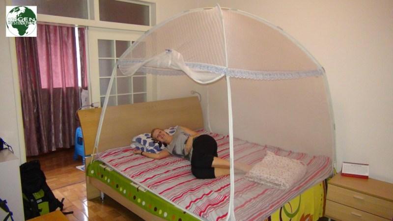 Vores hyggelige soveværelse i Chengdu