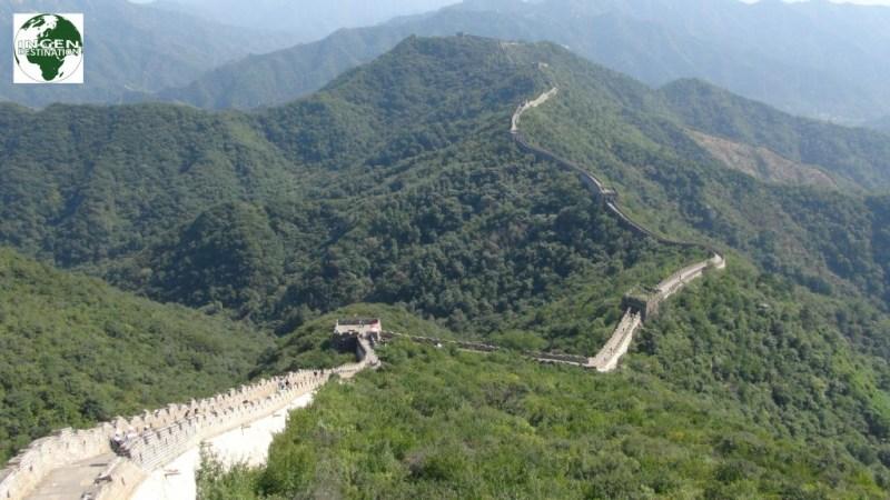 Den strækning man kan se af muren her, svare til ca. 1/4 af hvad vi gik denne dag