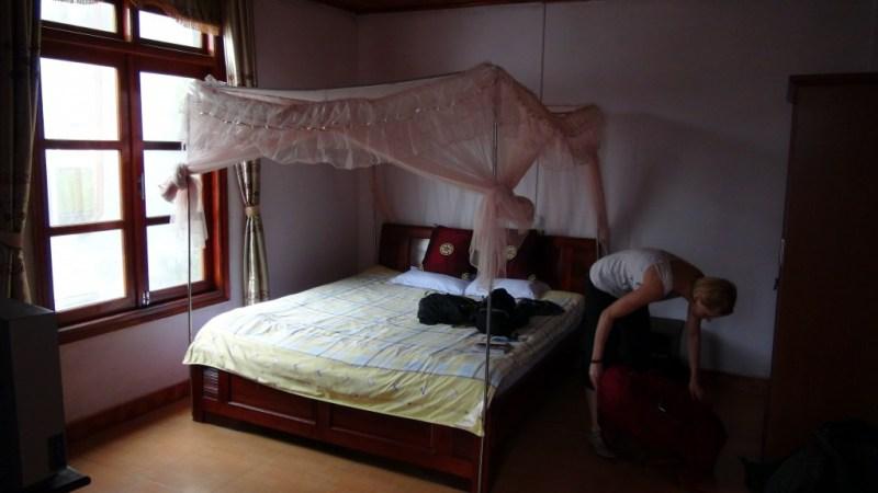 Vores værelse, da vi endelige fandt et!
