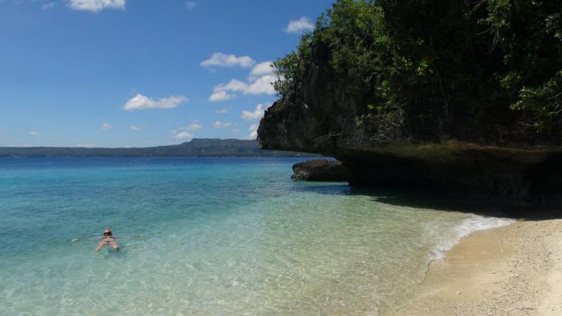 filippinerne, scooter, siquijor island, strand, paradis, palmer