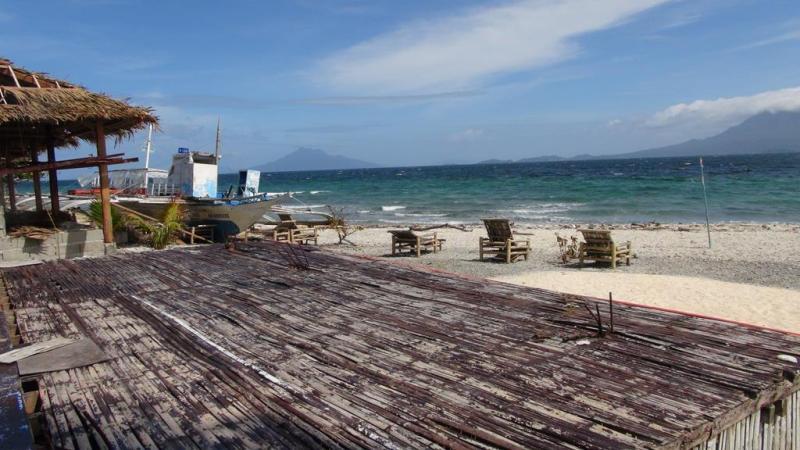 filippinerne, solskin, backpacking, strand, higatangan island, tyfon, strand