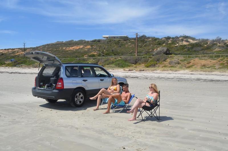 Dejlig dag på stranden med hygge og fjollerier.