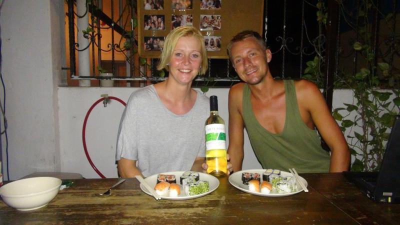 3 favoritter... sushi, vin og hinanden