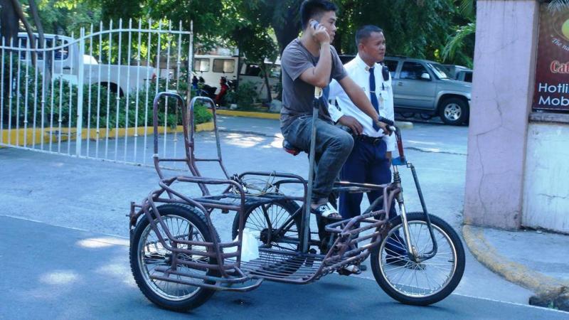 Denne cykel taxa lå forhåbentligt i den billige ende af skalaen.
