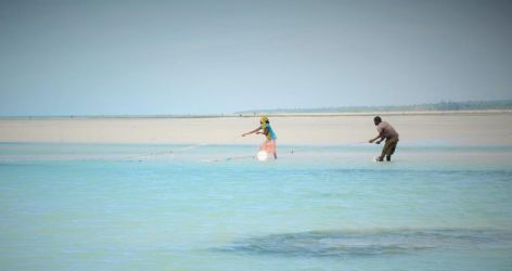 Ved lavvande har landsby beboerne travlt med at fange fisk, skaldyr og andet kravl som vi aldrig vil anse for at være mad