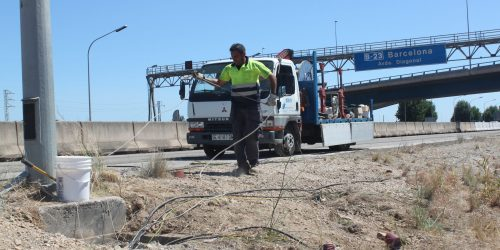 Trabajos de tendido de cable