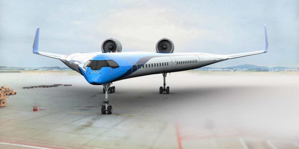 avión en el que los pasajeros viajan en las alas
