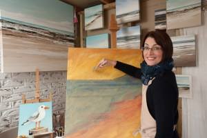 Artist Amanda Selway, Isle of Wight Arts Open Studios