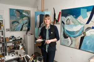 Artist Lisa Traxler, Isle of Wight Arts Open Studios