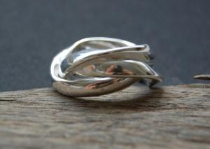 Silver Ring made by Hannah Ebrahim