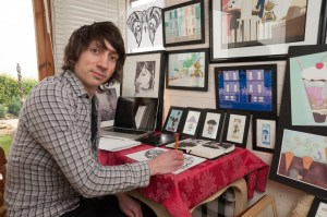 Illustrator Luke Bridgeman, Isle of Wight Arts Open Studios