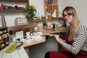 Jeweller Kimmi Piggott, Isle of Wight Arts Open Studios