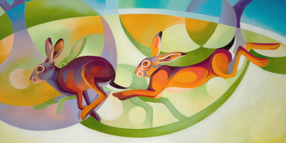 Alison Ingram, Running Hares. Horsham Artists Open Studios