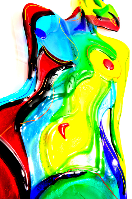 Harlequin Nude fused glass wall panel - Sibohan Jones (5) - Copy_med