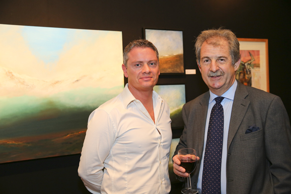 Mark with Gilbert Green of Thomson Snell & Passmore at the Launch Party_lo
