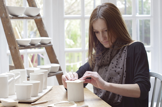 Rebecca's pottery studio, Chichester Art Trail