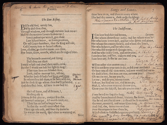 John Donne Poems circa 1669